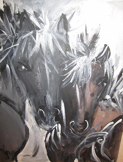 cavalli nella neve 1